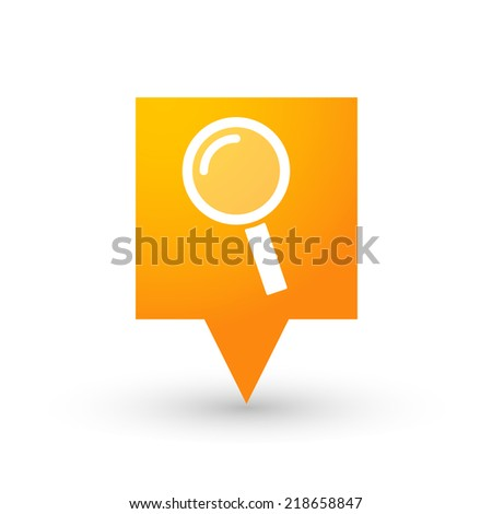 illustration of an isolated tooltip with a magnifier - stock vector