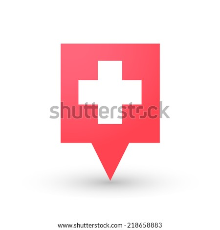 illustration of an isolated tooltip with a swiss flag - stock vector