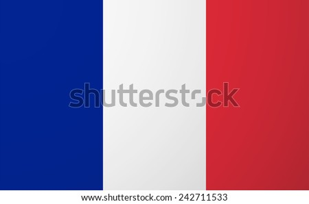 Illustration of an isolated  vector France flag - stock vector