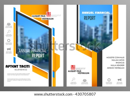 illustration of Annual report and presentation Leaflet Brochure Flyer and book cover layout template design - stock vector