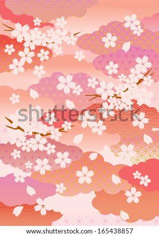 Illustration of beautiful cherry tree - stock vector