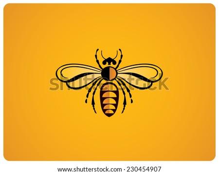 Illustration of bee - stock vector