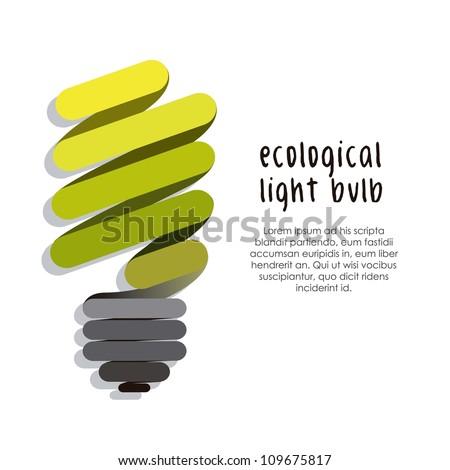illustration of bulb isolated on white background, vector illustration - stock vector