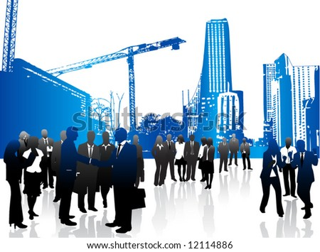 Illustration of business - stock vector