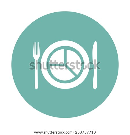 illustration of business and finance icon plate - stock vector