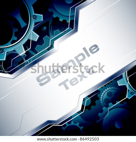 illustration of business template with gear in background - stock vector