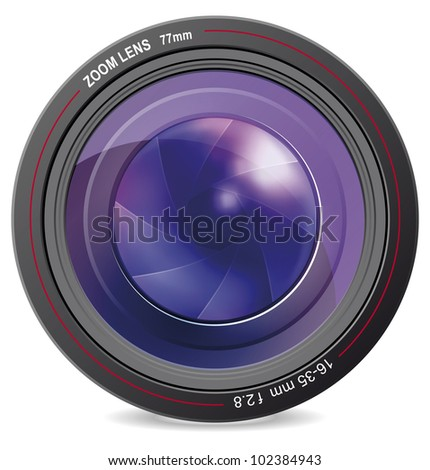 Illustration of camera lens vector. EPS-10 - stock vector