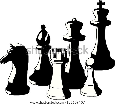 illustration of chess piece  - stock vector