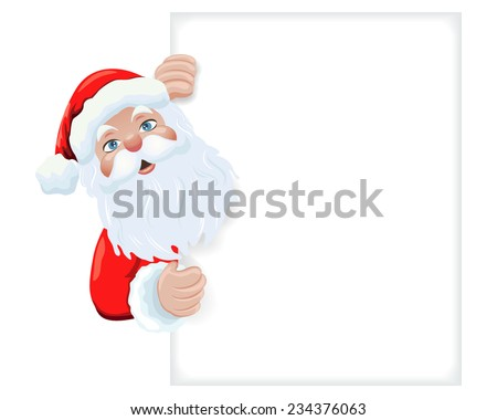 Illustration of  Christmas Santa Claus. - stock vector