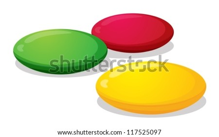 illustration of colorful candies sweet on a white background - stock vector