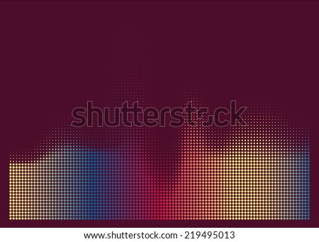 illustration of colorful musical bar showing volume on dark background. You can use in club, radio, pub, party, DJ, concerts, recitals or the audio technology advertising background.  - stock vector