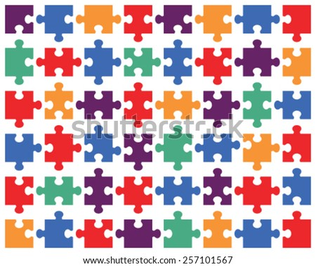 Illustration of colorful shiny puzzle, vector - stock vector
