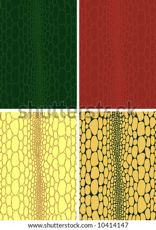 Illustration of Crocodile skin leather texture background pattern - vector illustration. Fully editable, easy color change. - stock vector