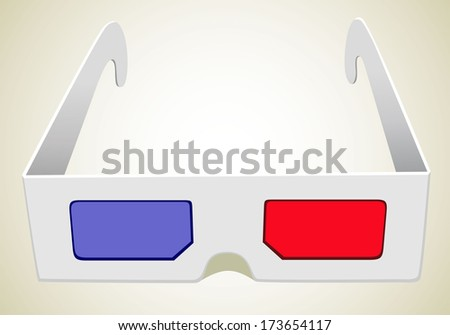 illustration of 3d glasses  - stock vector