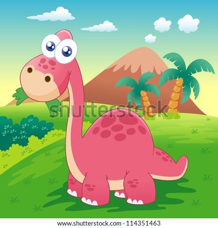 illustration of dinosaur vector - stock vector