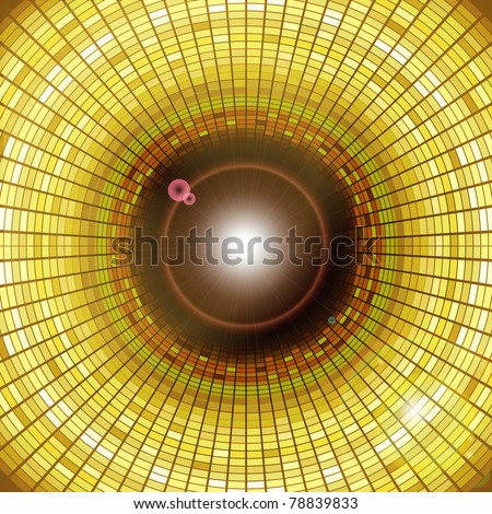 illustration of disco background with square pattern - stock vector