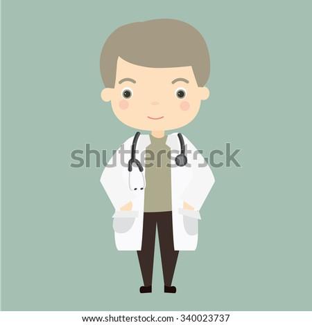 Illustration of doctor - stock vector