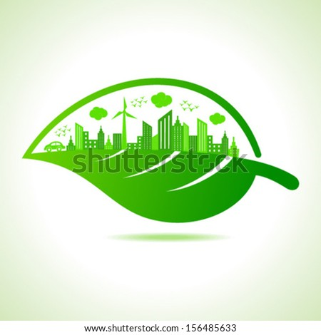 Illustration of ecology concept - save nature - stock vector