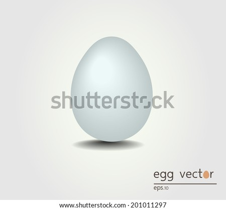 Illustration of Egg isolated on background - stock vector