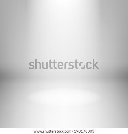 Illustration of empty light room with spotlight - stock vector