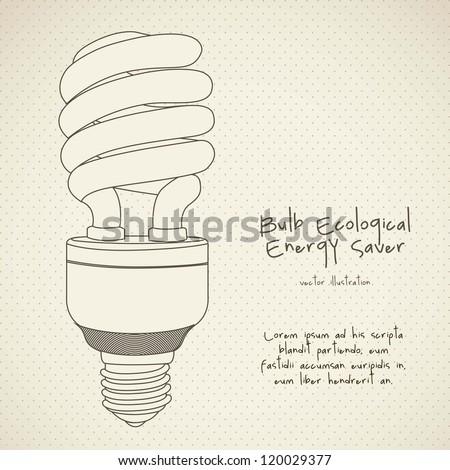 Illustration of energy saving bulbs, vector illustration - stock vector