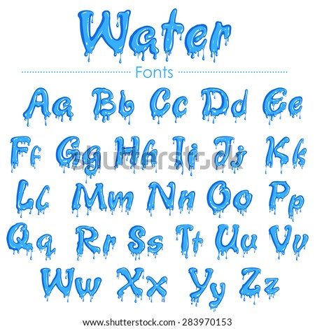 Font That Looks Like Water 12