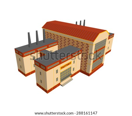 Illustration of factory concept. - stock vector