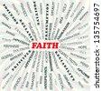 illustration of faith concept. - stock vector