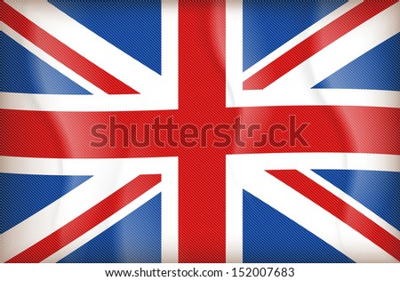 illustration of flag of The United Kingdom of Great Britain and Northern Ireland - stock vector