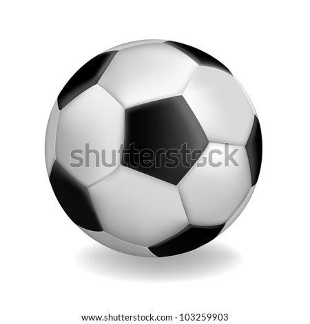 Illustration of football ball, isolated on white - stock vector