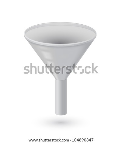 illustration of funnel - stock vector