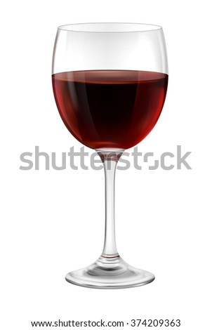 Illustration of  glass of red wine, EPS 10 contains transparency.   - stock vector