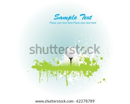 illustration of golf background, sports illustration - stock vector