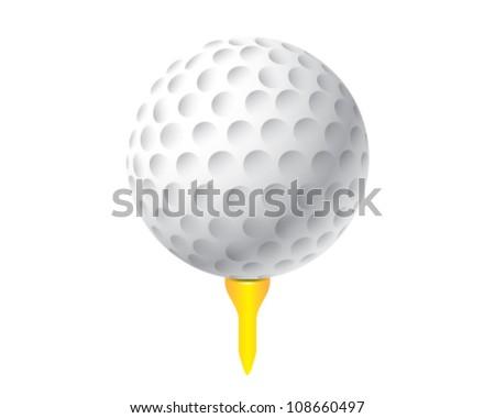 illustration of golf ball - stock vector