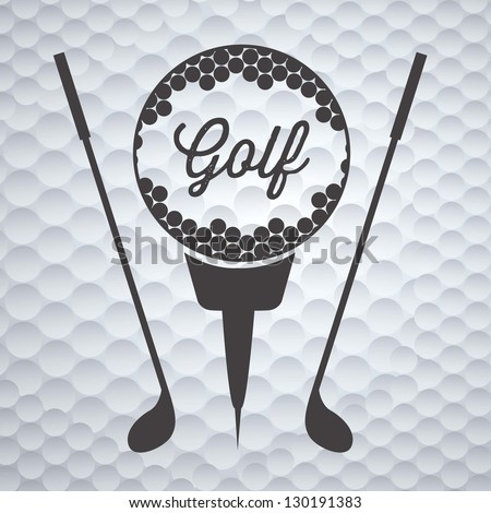 Illustration of golf icons, illustrations of sports and games, vector illustration - stock vector