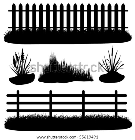 Illustration of grass - stock vector