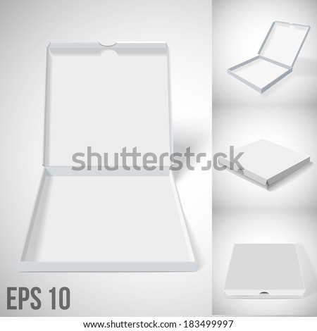 illustration of grey cloze and open pizza box. set2 - stock vector