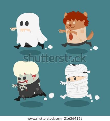 illustration of Halloween - stock vector