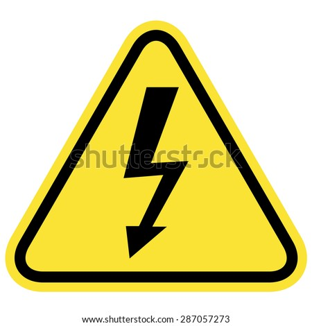 Illustration of high voltage sign - stock vector