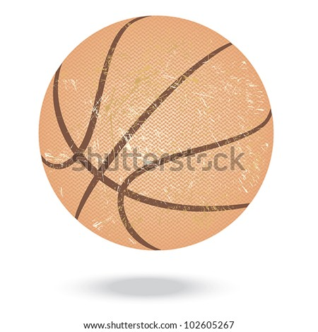 illustration of highly rendered basketballs, isolated in white background. - stock vector