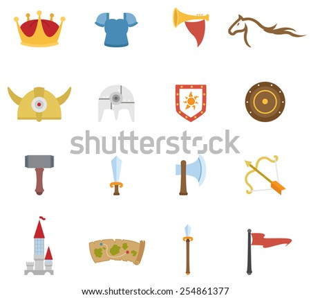 illustration of historical icon vector - stock vector