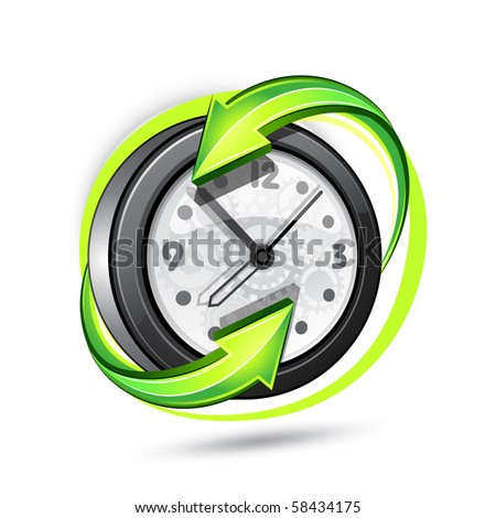 Illustration of hours - stock vector