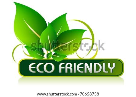 illustration of icon for eco friendly on isolated white background - stock vector