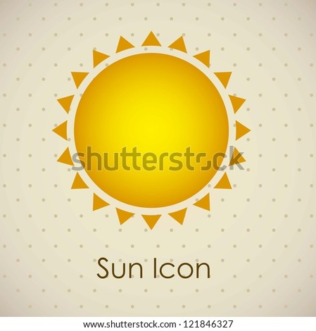 Illustration of icons sun icons of weather and seasons, vector illustration - stock vector