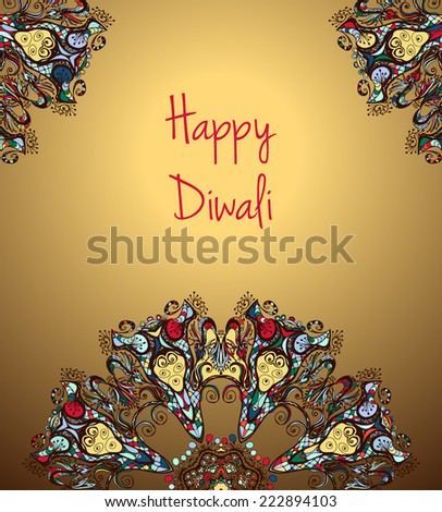 illustration of Indian festival Diwali - stock vector