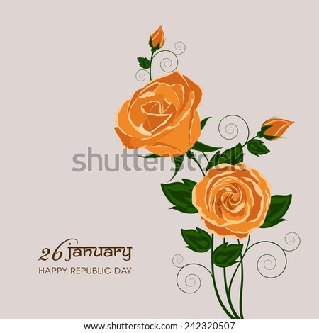 Illustration of Indian republic day,26 January.  - stock vector
