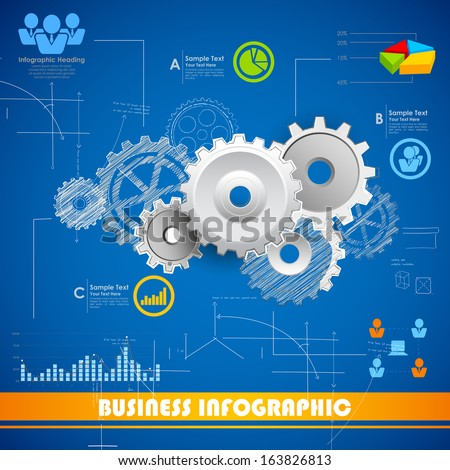 illustration of Industrial Infographics Chart - stock vector