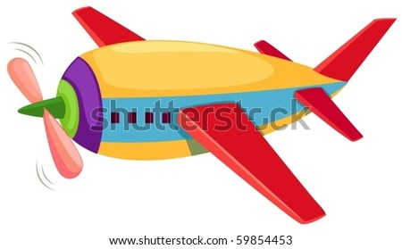 illustration of isolated airplane on white background - stock vector