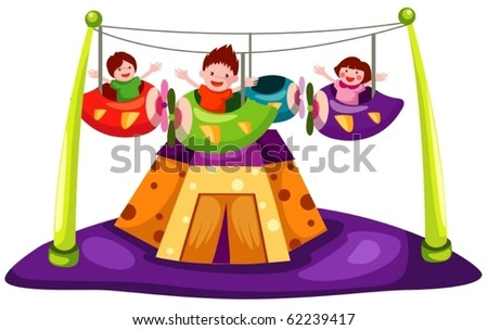 illustration of isolated amusement on white background - stock vector