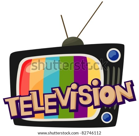 illustration of isolated letter of television  on white background - stock vector